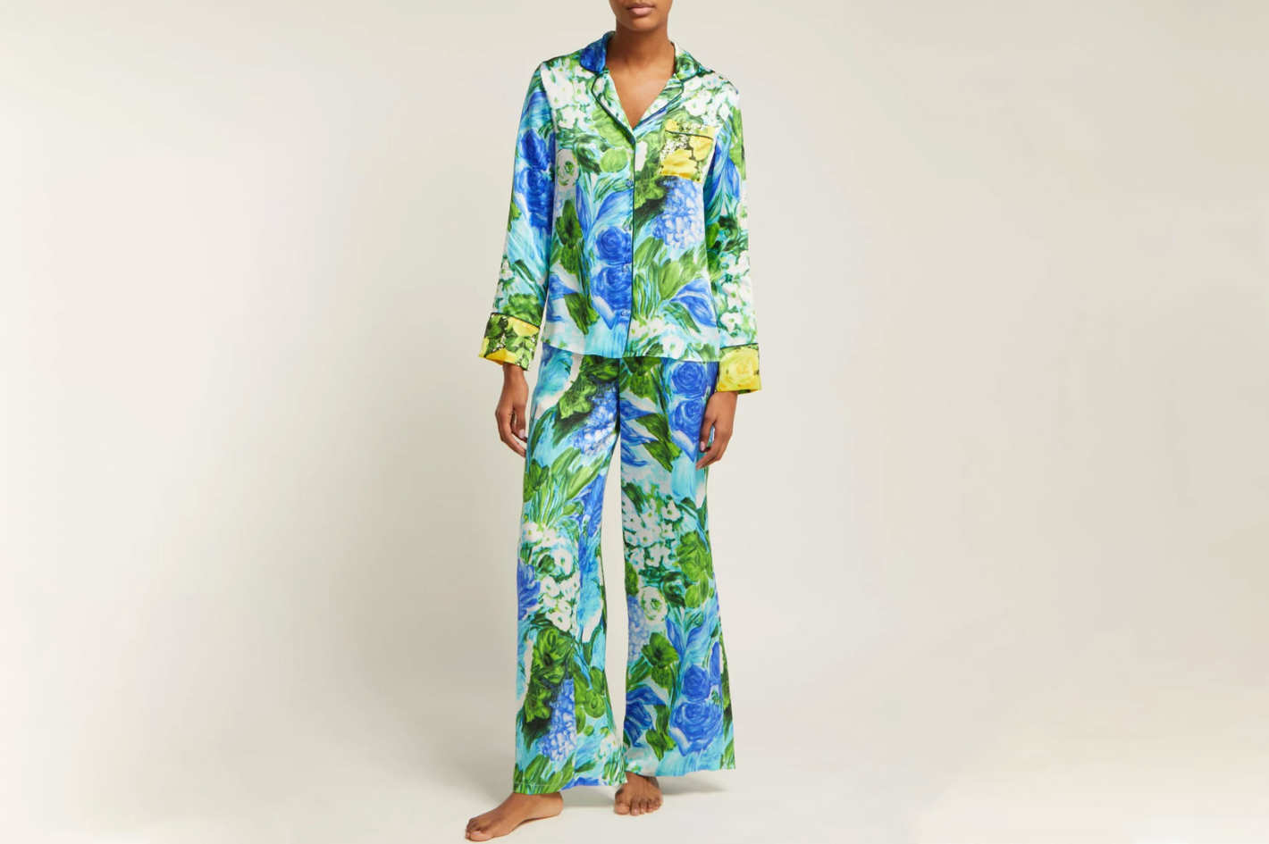 Richard Quinn Watercolor-print Pajamas