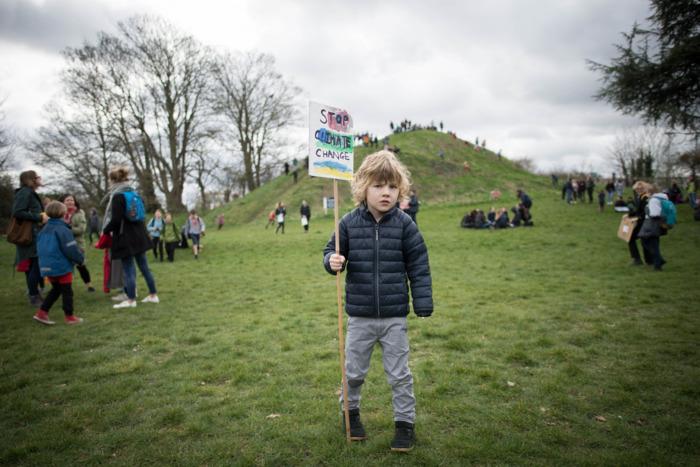 Climate strike in Cambridge.