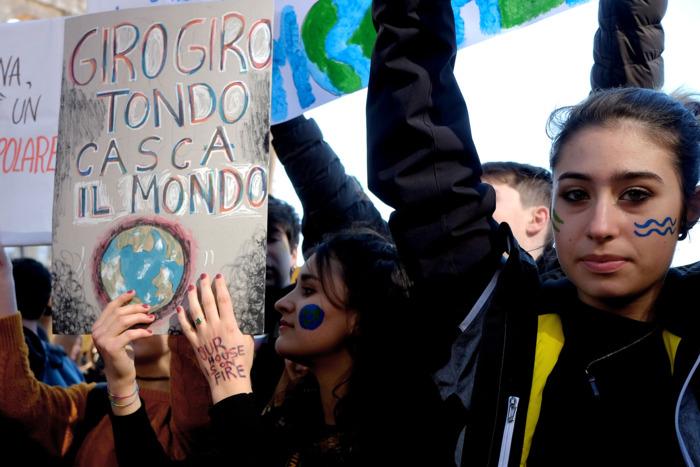 Climate strike in Rome.