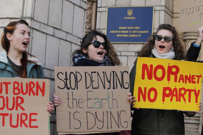 Climate strike in Kiev.