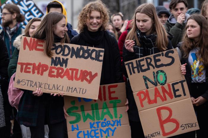 Climate strike in Poland.