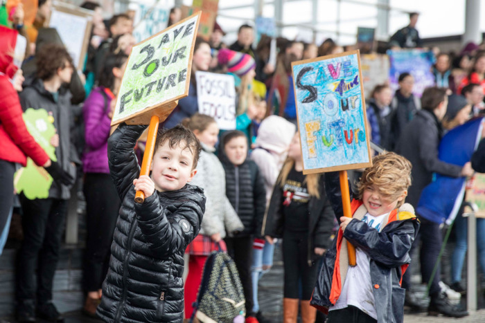 Climate strike in Wales.