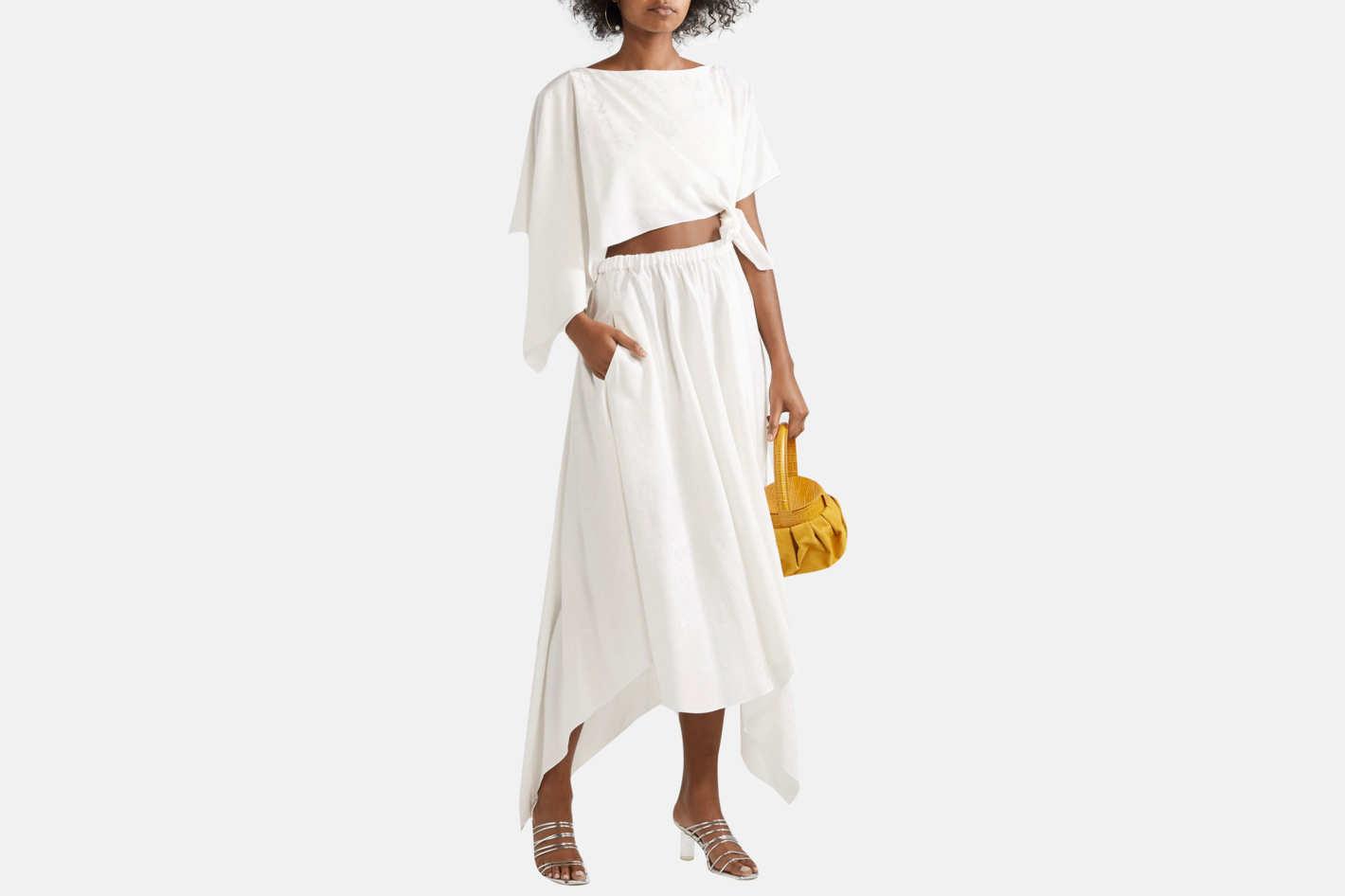 Rosie Assoulin Convertible asymmetric  midi dress