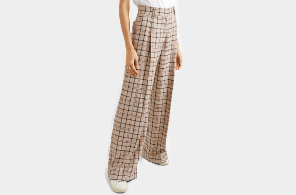 See By Chloé Checked woven wide-leg pants