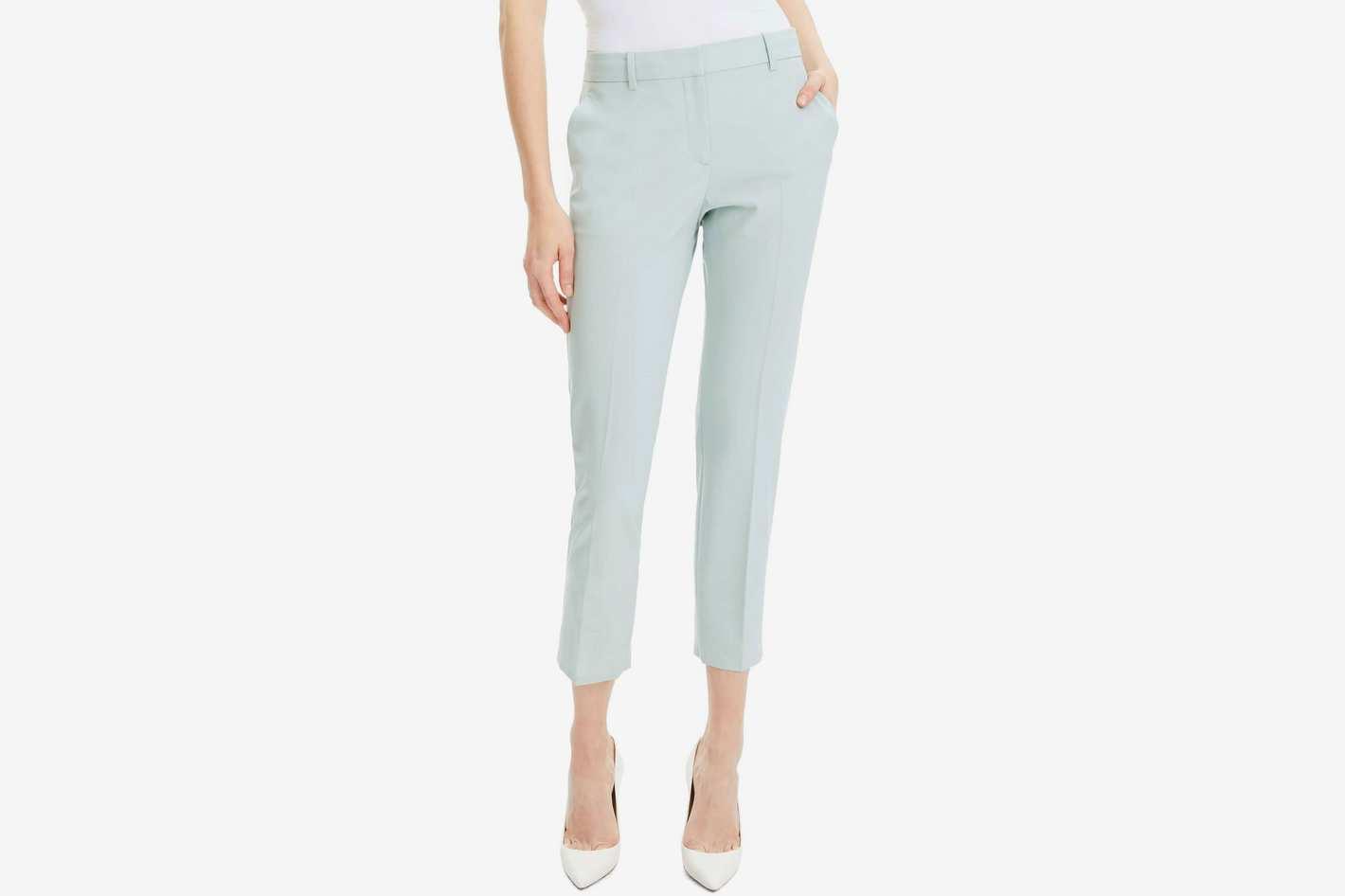 Theory Treeca 2 Good Wool Crop Suit Pant