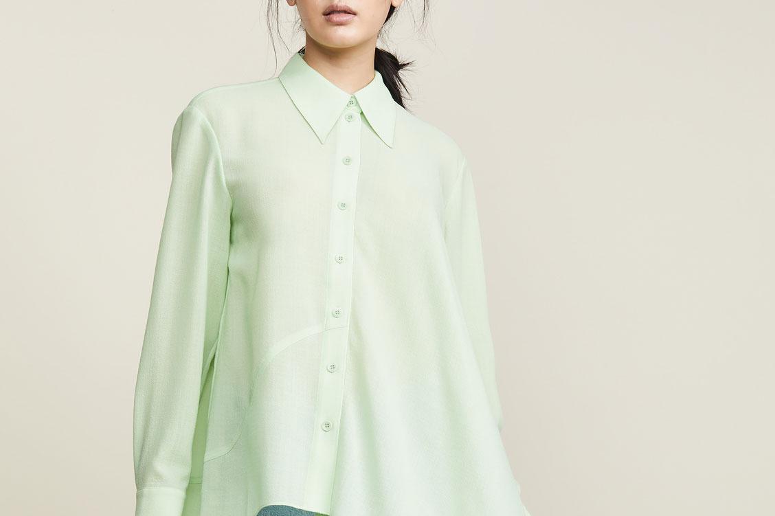 Tibi Asymmetrical Shirt