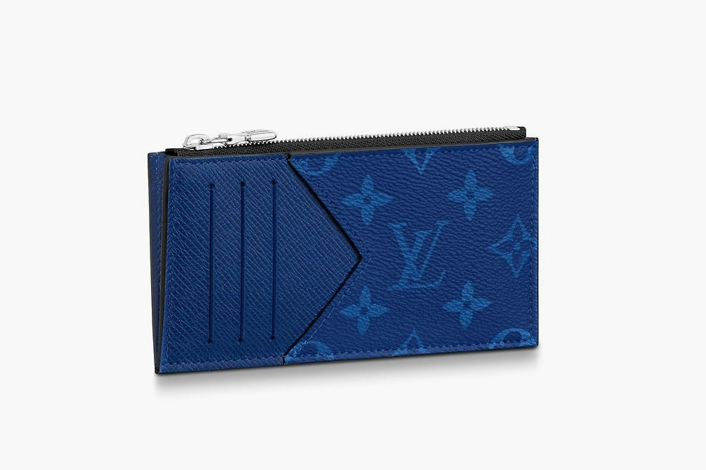 Coin Card Holder in Cobalt