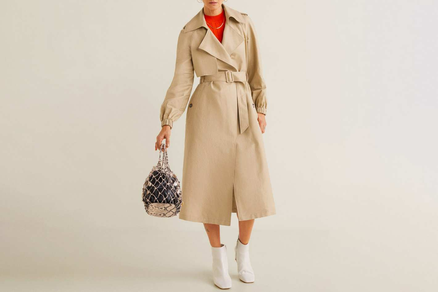 Belted Linen Trench