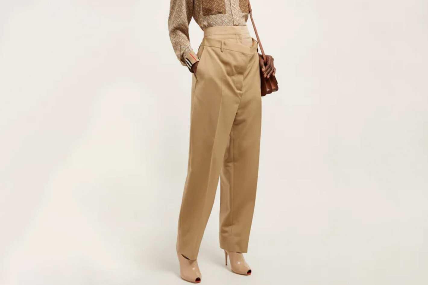 Burberry Double-Waist Pants