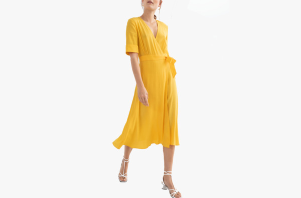 & Other Stories Midi Wrap Dress