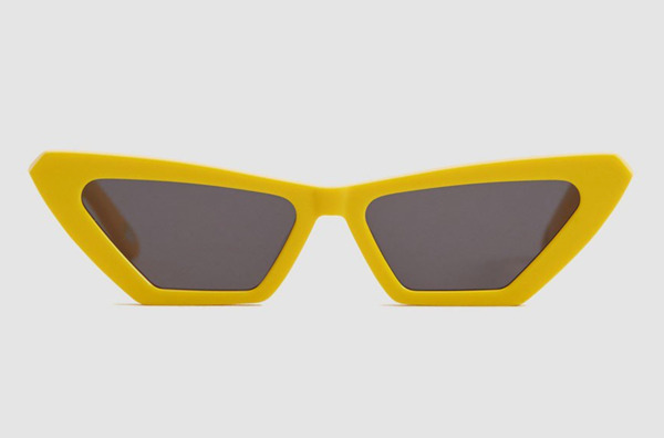 Chimi Eyewear Tiger Square Yellow Sunglasses
