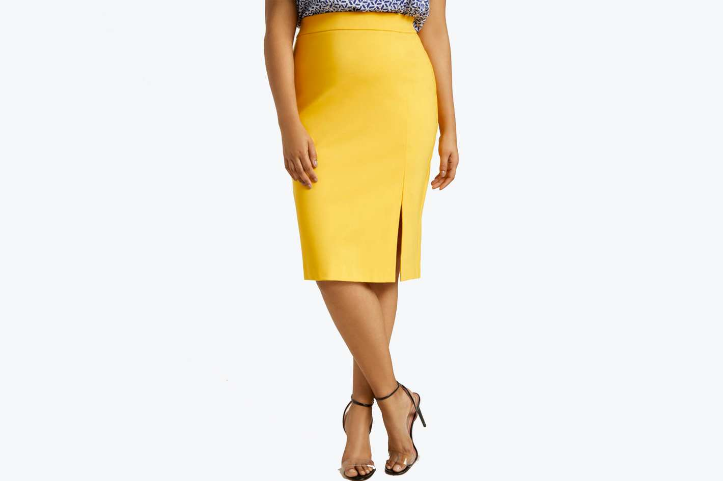 Eloquii 9-to-5 Pencil Skirt with Slit