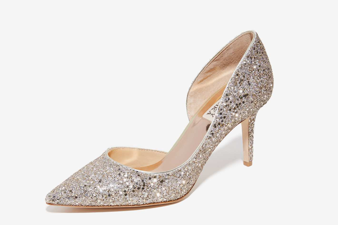 Badgley Mischka Daisy Glitter Pumps