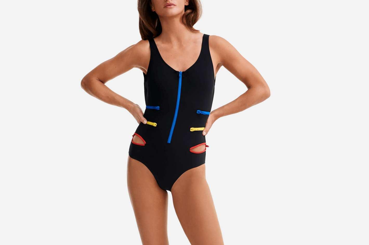 One Piece Swimwear Multicolor Zips