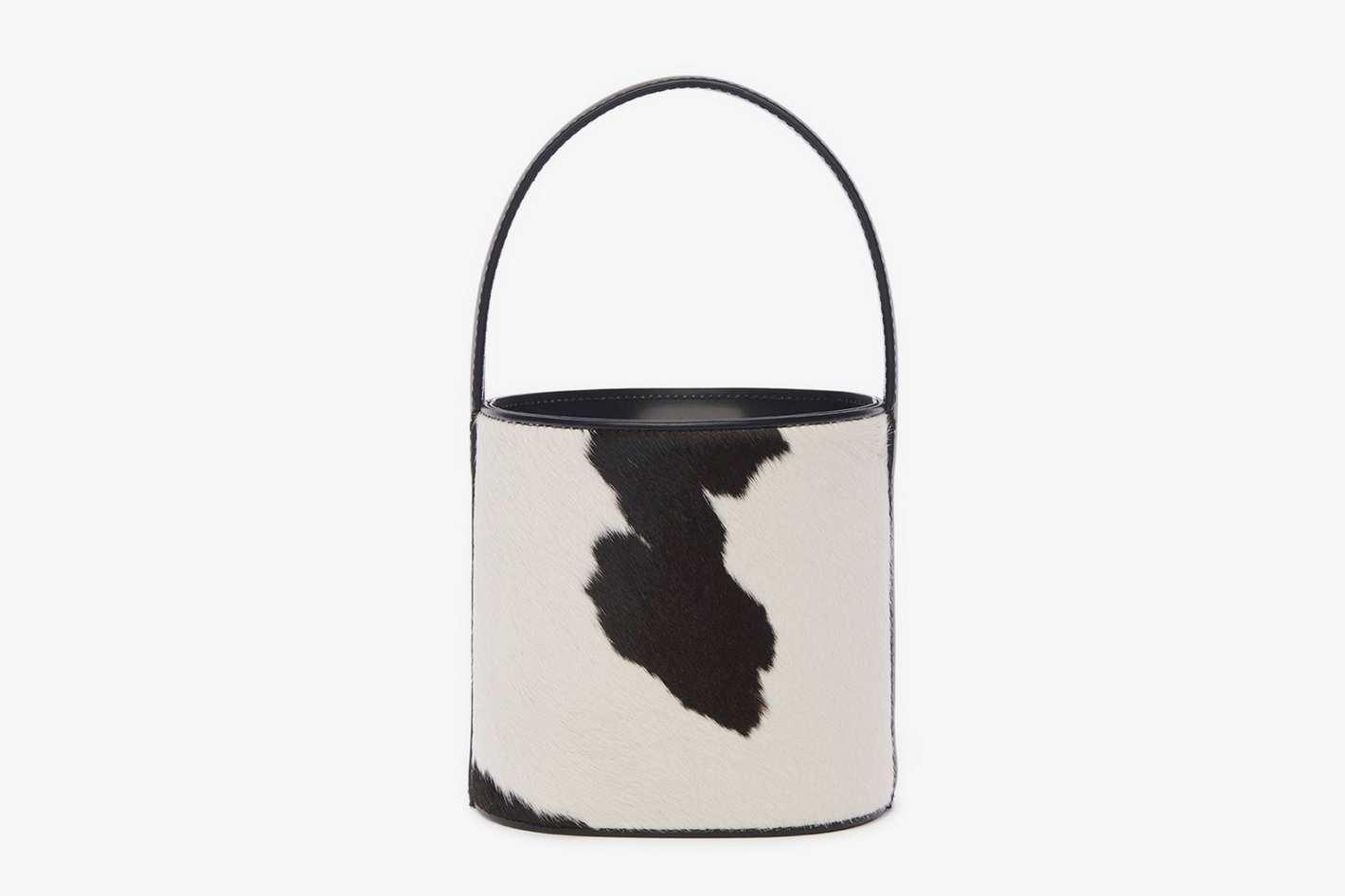Staud Bissett Bag in Cow Print