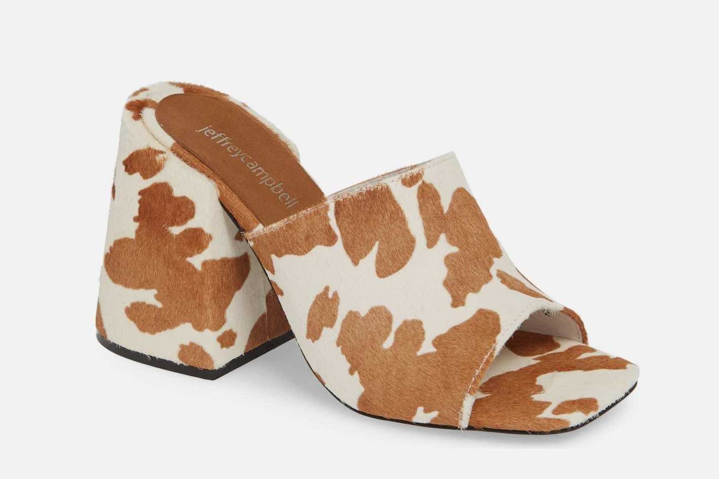 Jeffrey Campbell Colossal Big Heel Genuine Calf Hair Mule