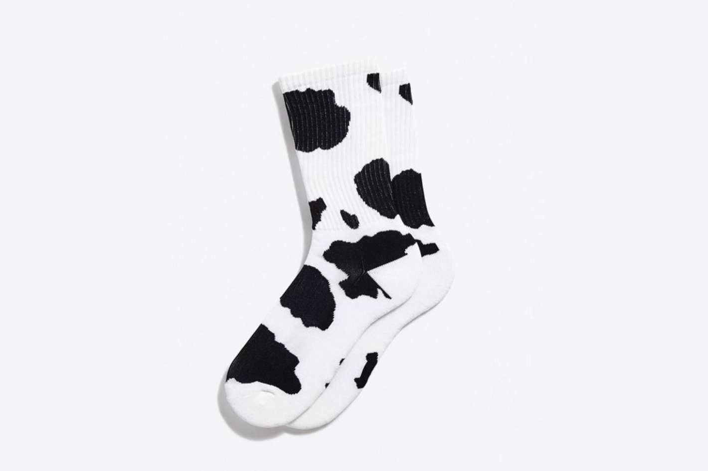 Urban Outfitters Cow Print Sport Sock