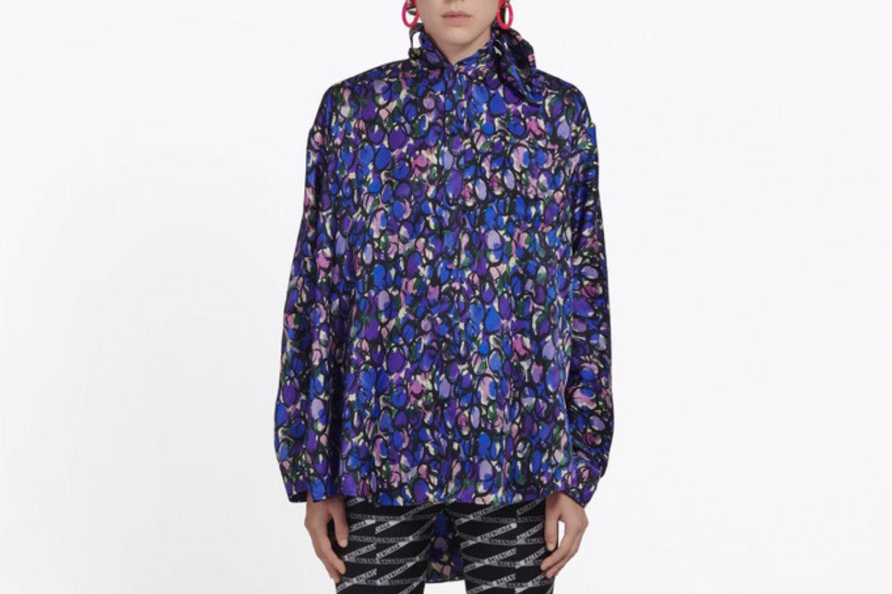 Balenciaga Women's Scarf Blouse