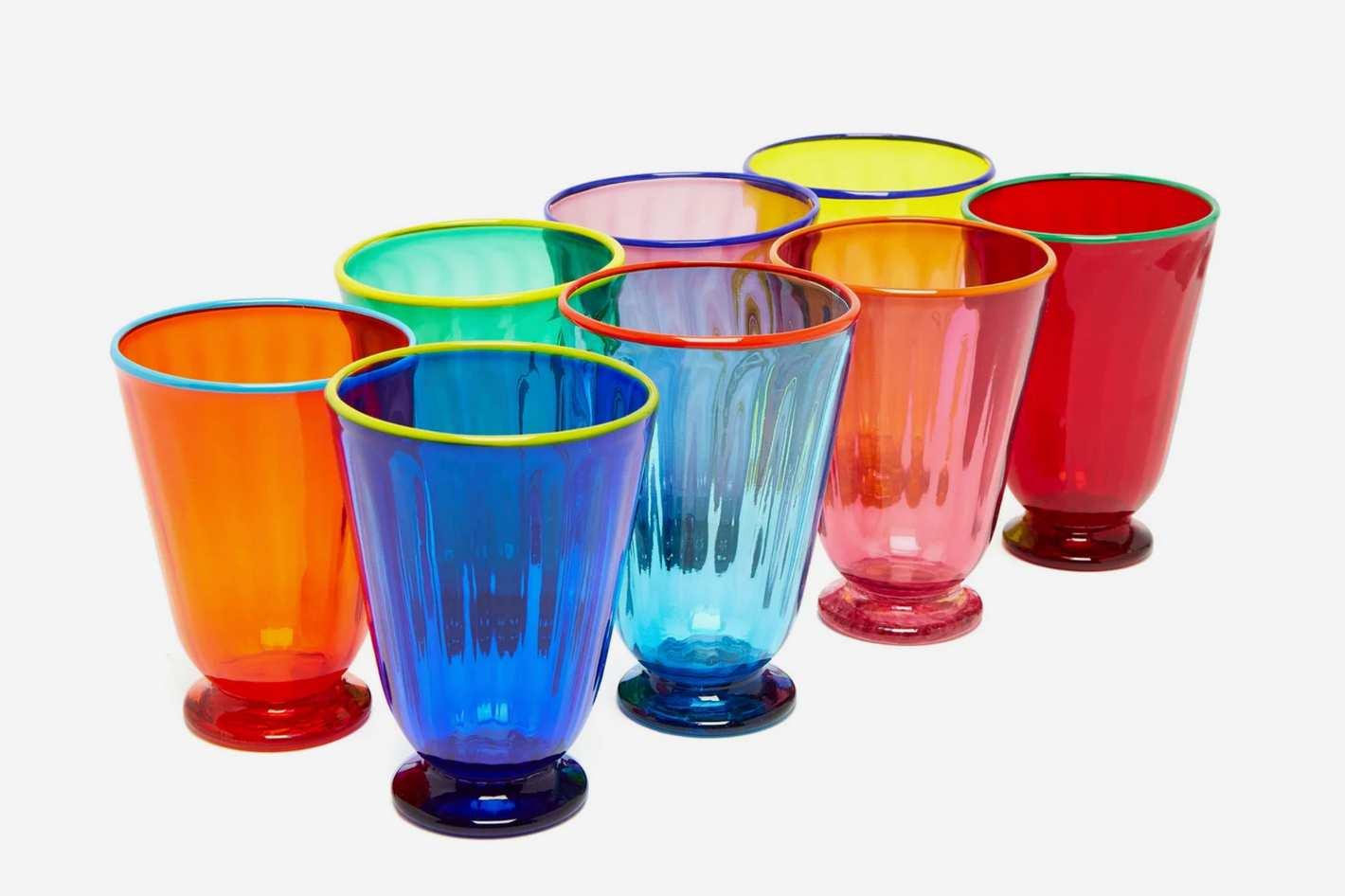 La DoubleJ X Salviati Set of Eight Glasses