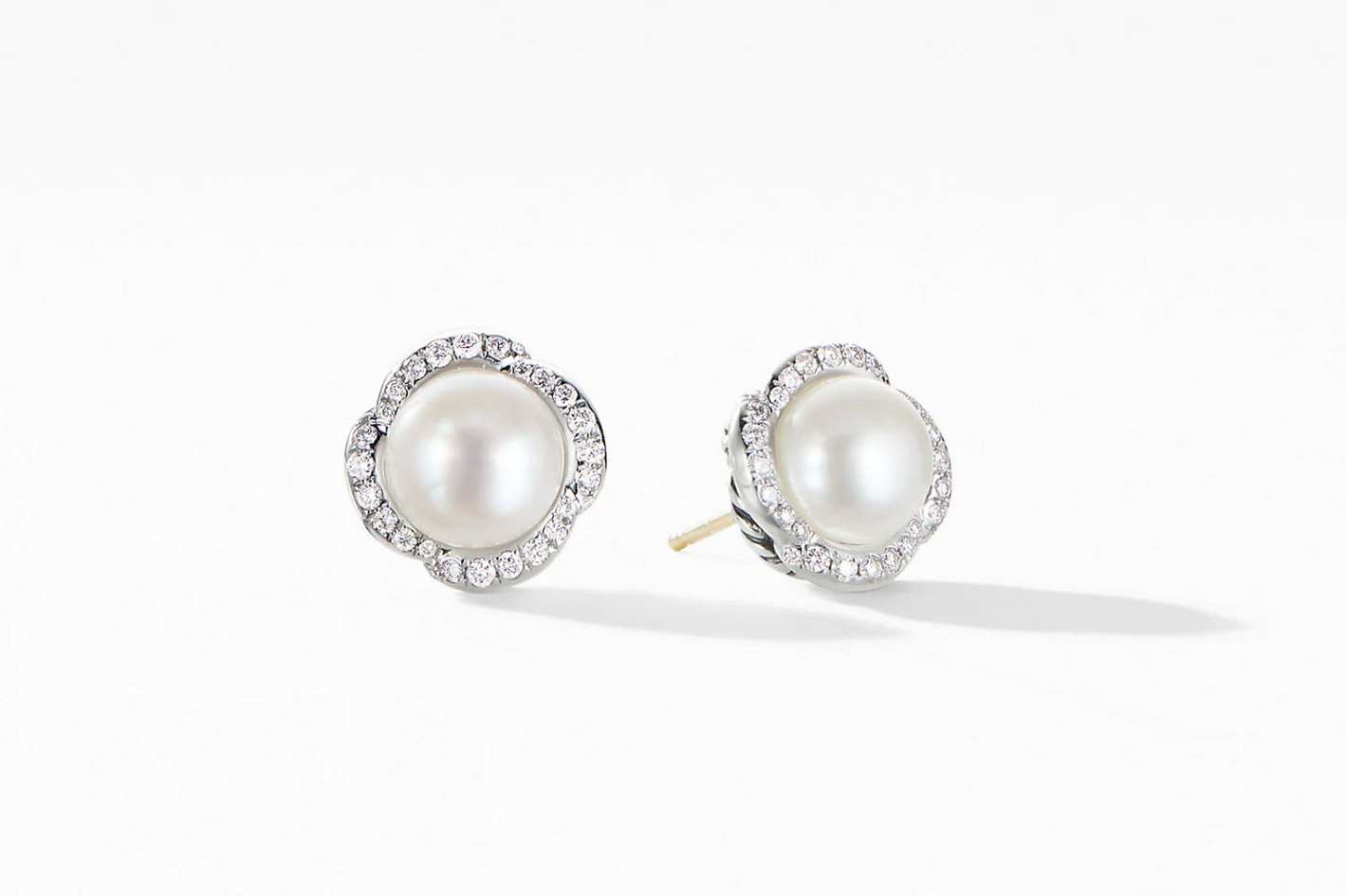 50eded843e6 David Yurman Continuance Pearl Button Earrings With Diamonds