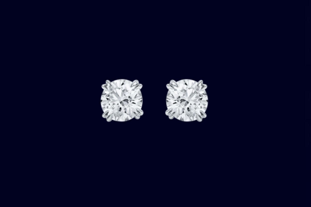 daf263954a4 Harry Winston Round Brilliant Diamond Earstuds