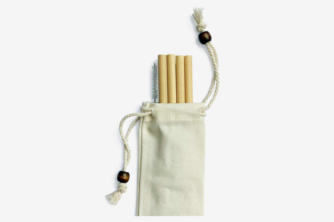 Bamboo Straw Girl X Goop Bamboo Straws, Set of 4