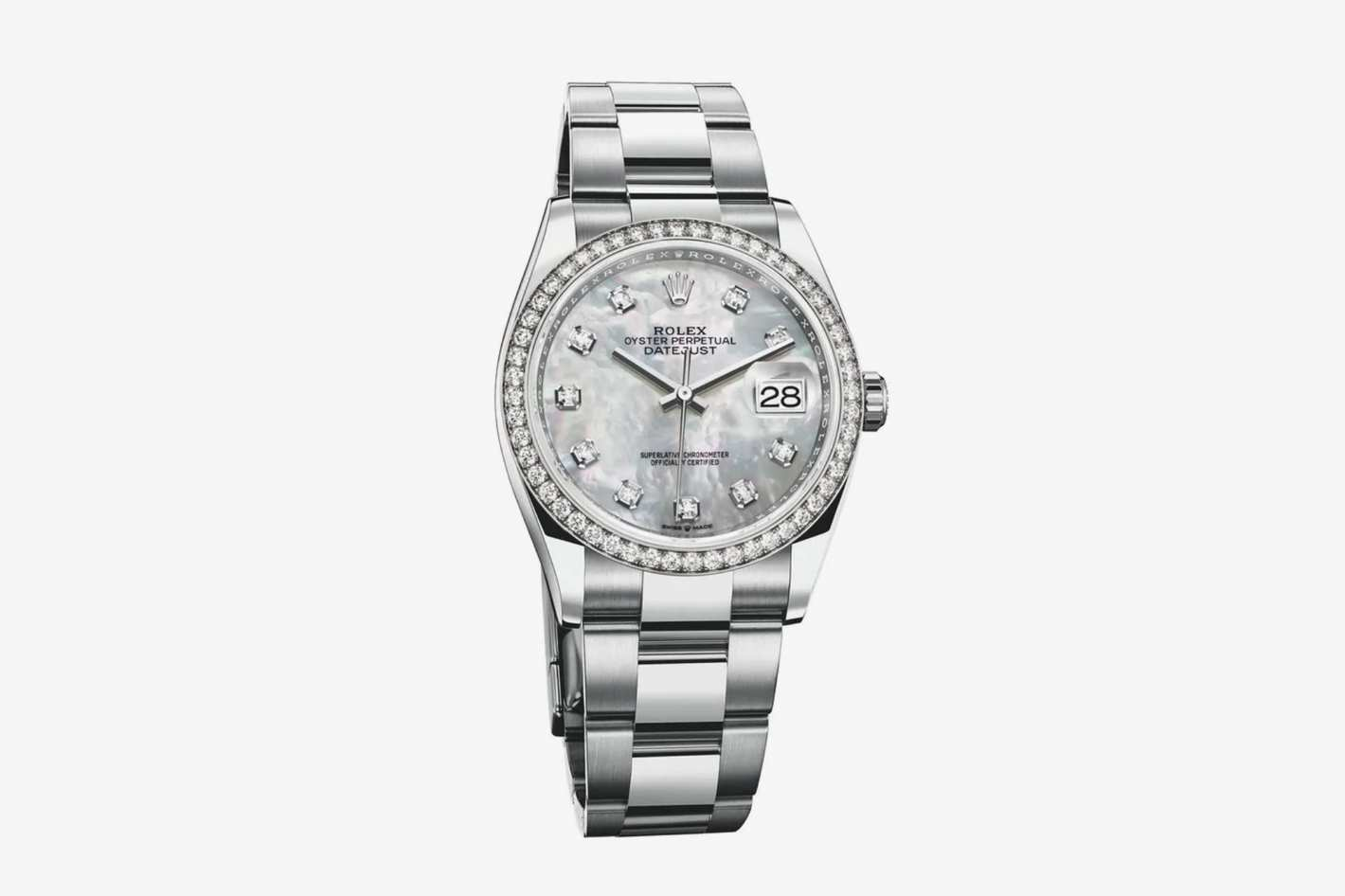 Rolex Datejust 36 Oystersteel and White Gold with Diamonds