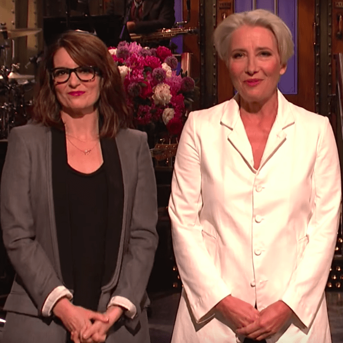 Tina Fey, Emma Thompson, and Amy Poehler.