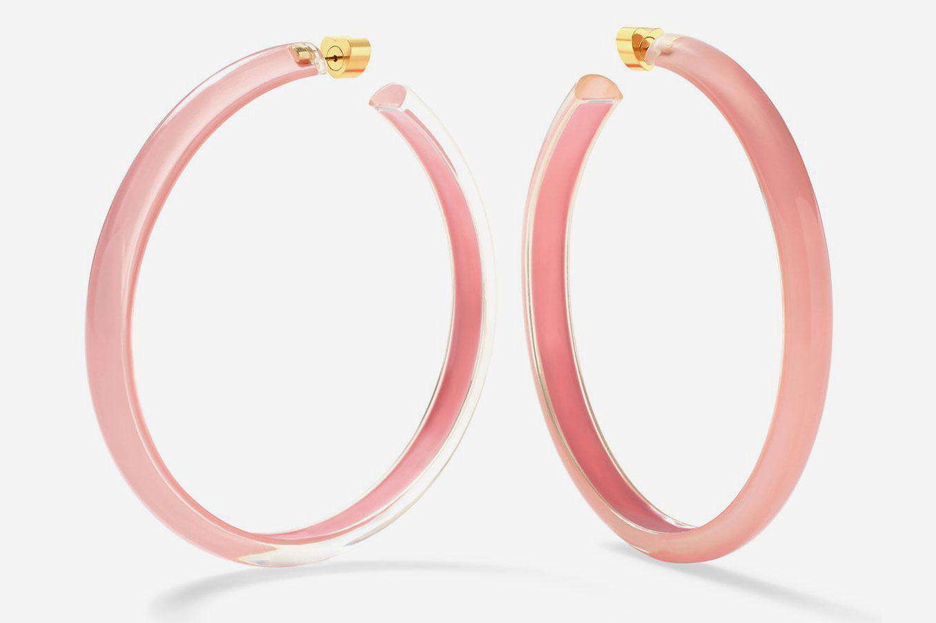 Large Jelly Hoops in Rose
