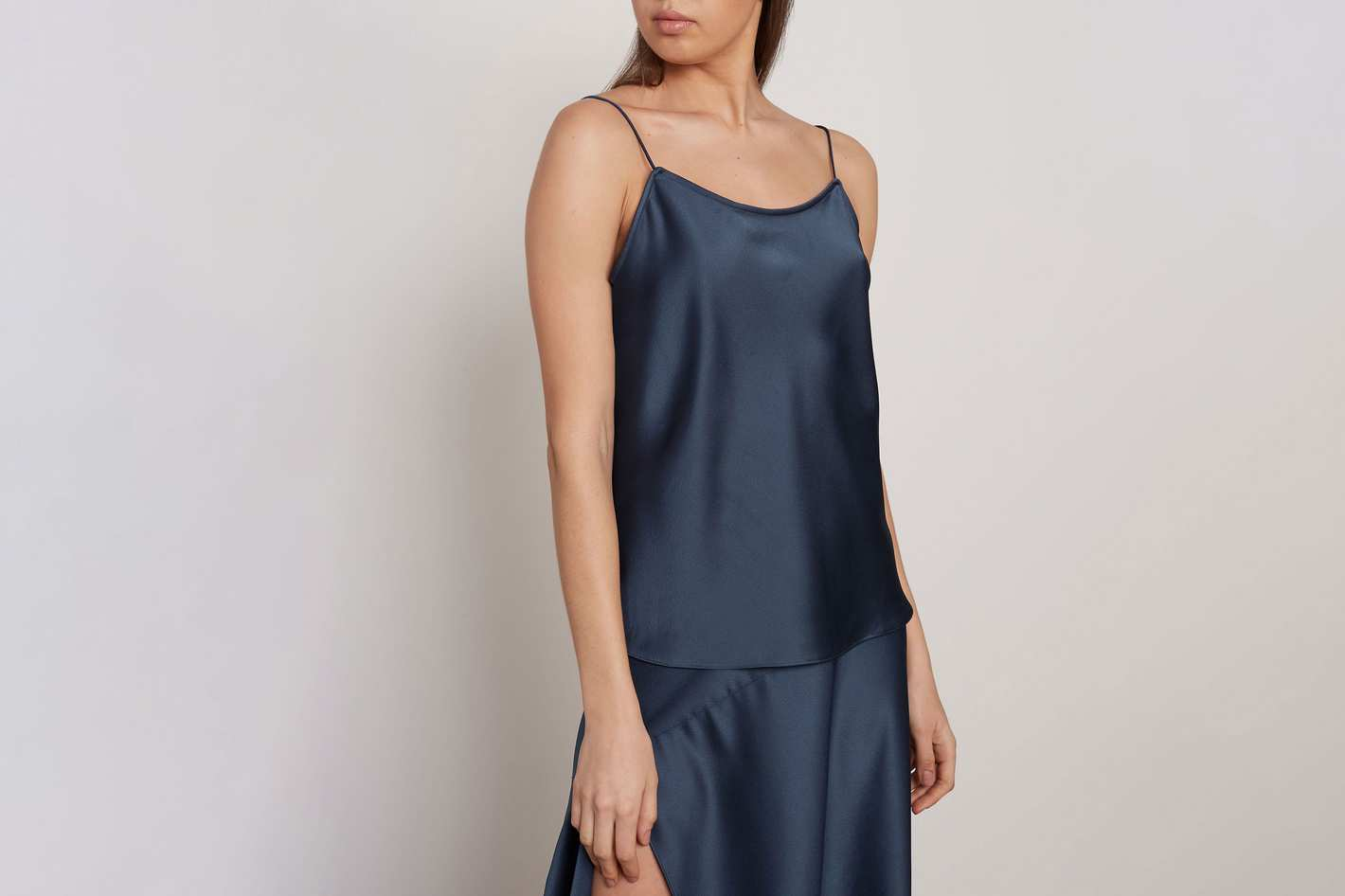 Michael Lo Sordo Hammered-Satin Camisole
