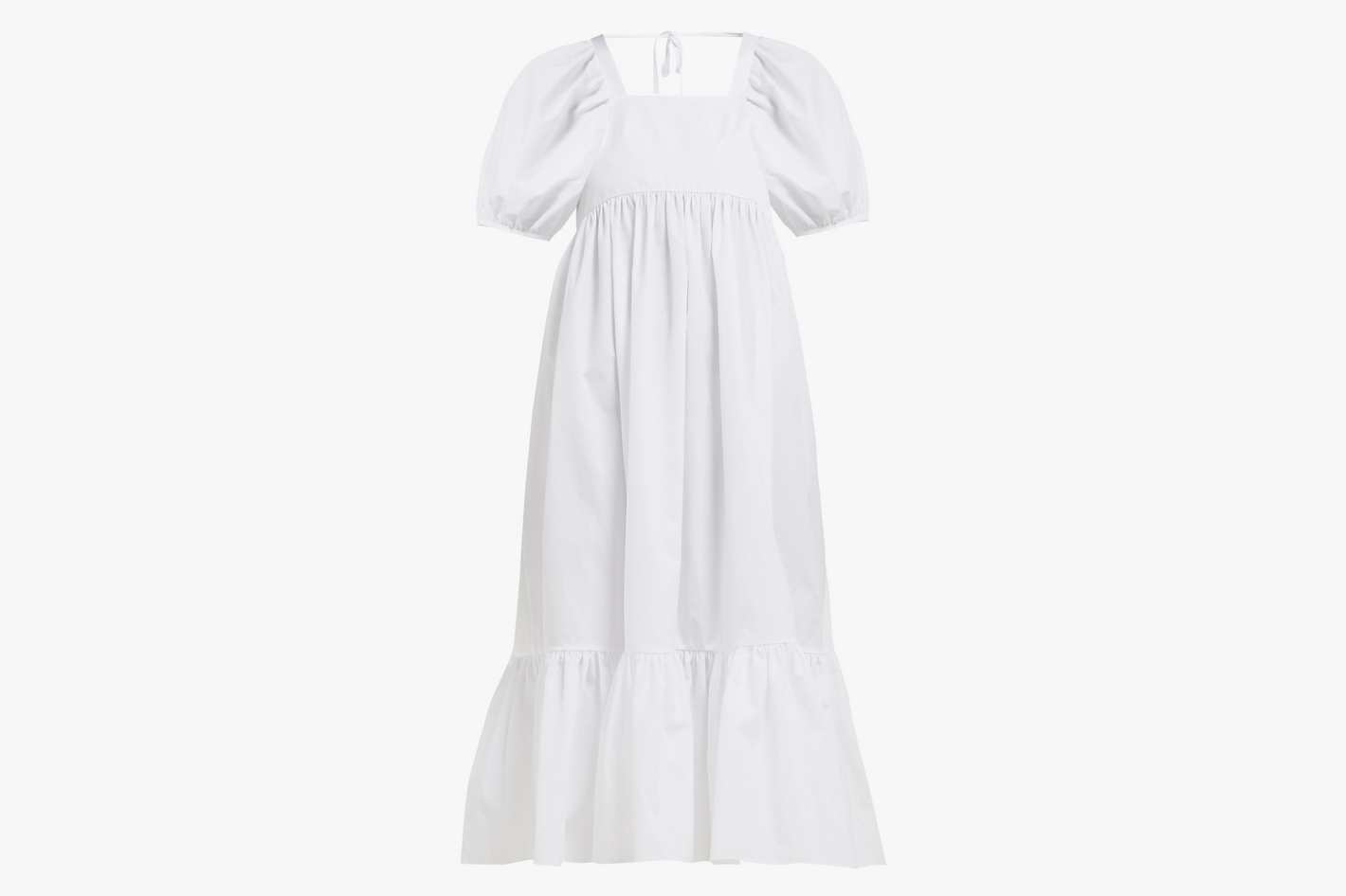 Mary Lou cotton-poplin midi dress