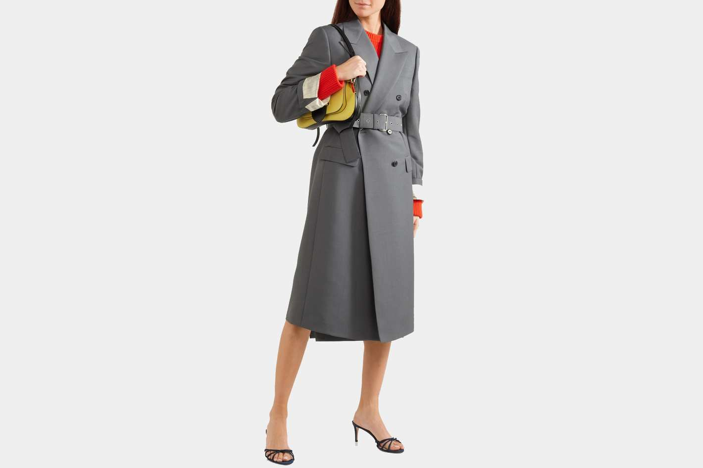 Prada Belted Mohair and Wool Coat