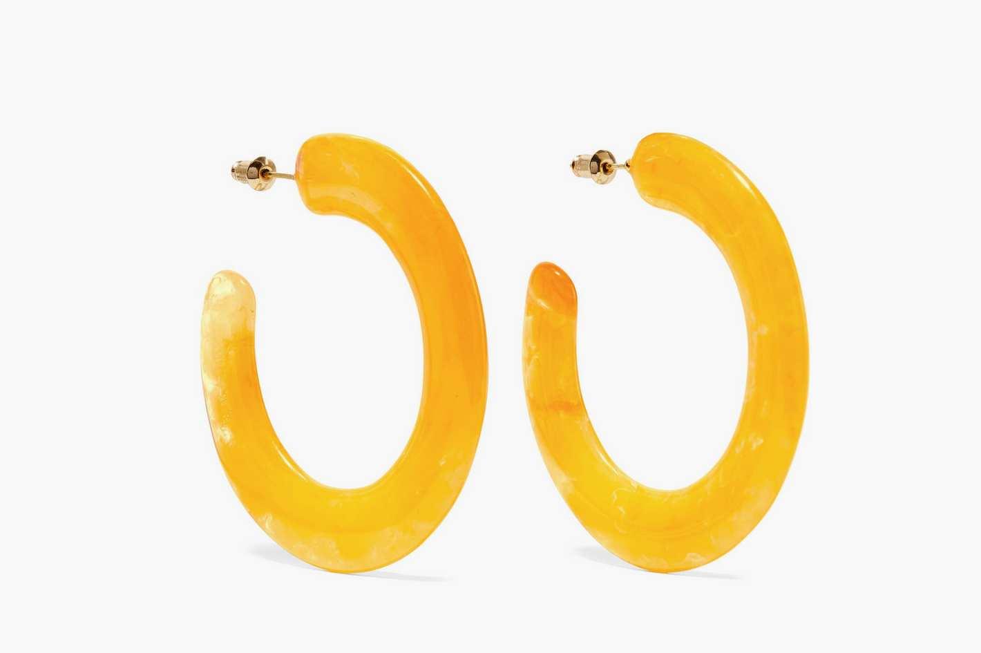Cult Gaia Mira Acrylic Hoop Earrings