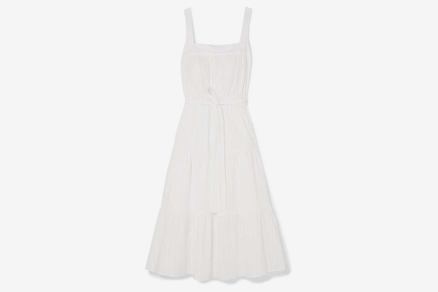 Michael Michael Kors Belted Cotton Midi Dress