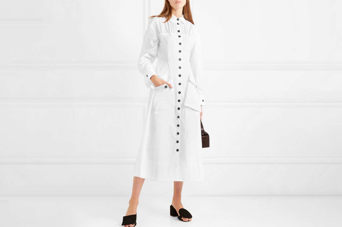 Rejina Pyo Miller Button-Detail Dress