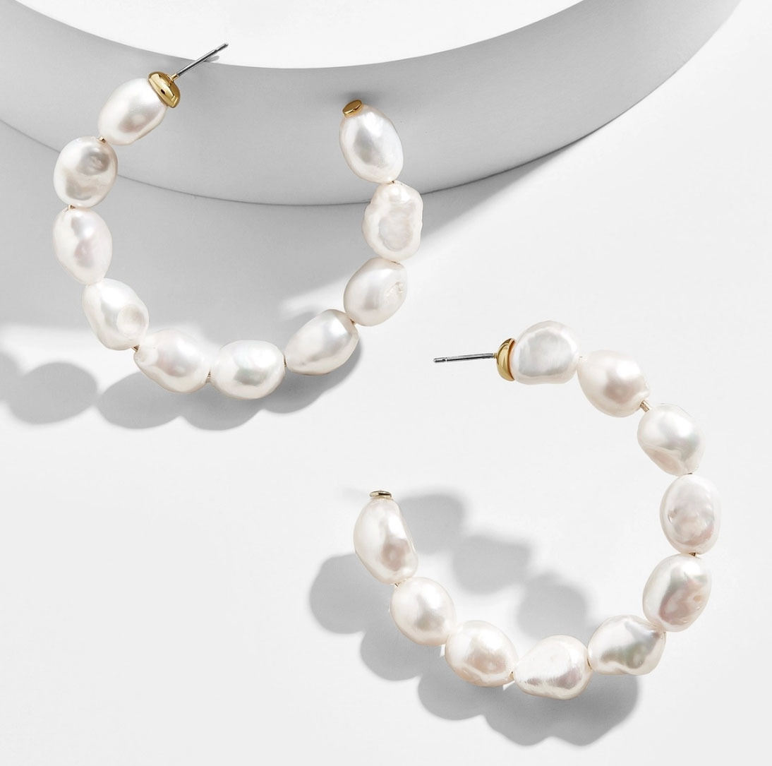 Baublebar Dafina Pearl Hoop Earrings