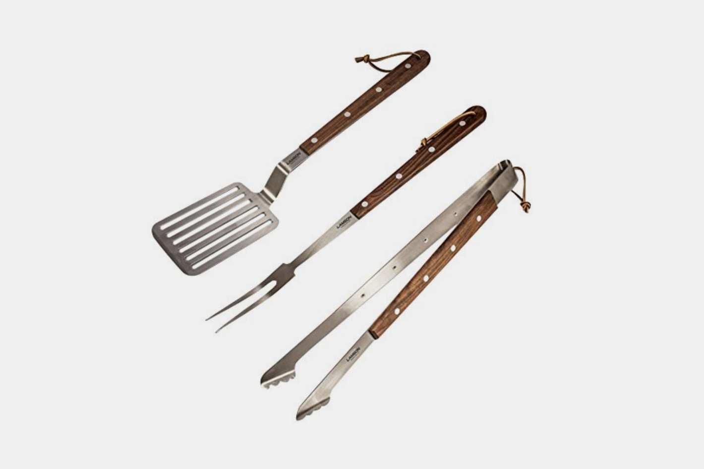 Lamson Premium 3-Piece Barbecue Tool Set