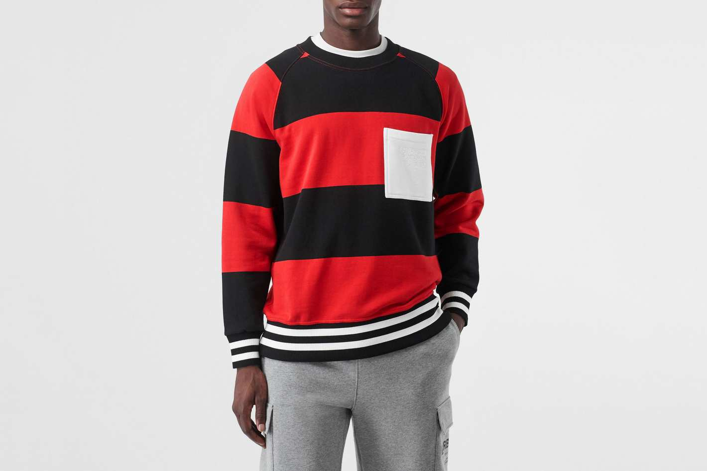 Burberry Rugby Stripe Cotton Sweater
