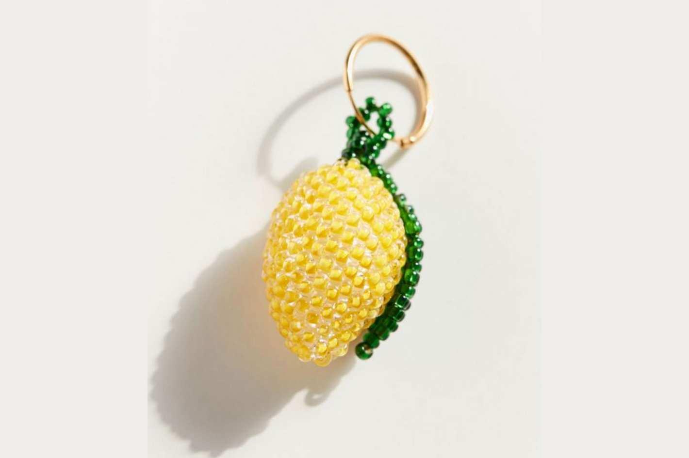 Pura Utz Beaded Lemon Single Earring