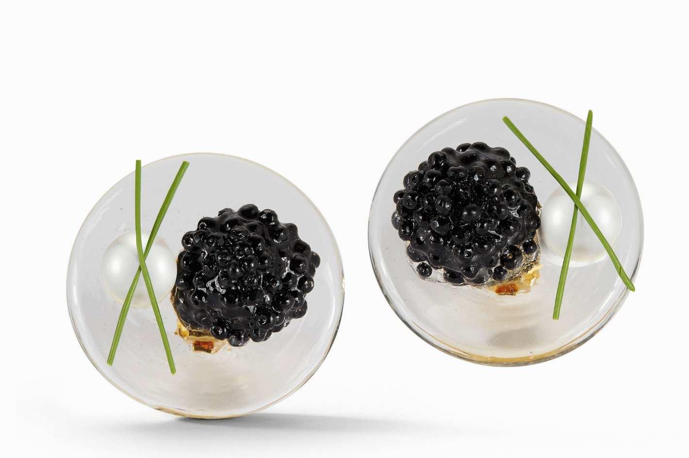 Chefanie Glass Caviar Earring
