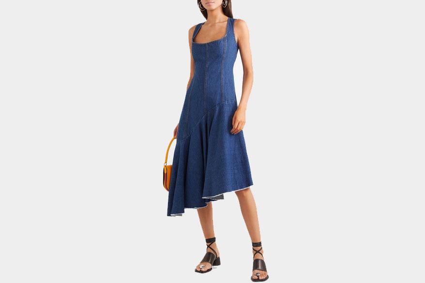 Solace London Lewis Asymmetric Denim Dress