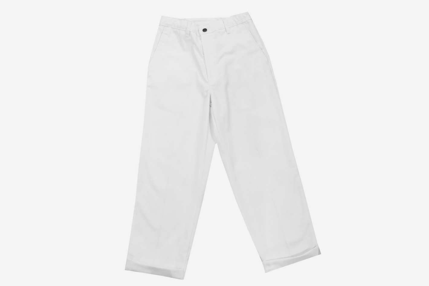 Peels Painting Embroidered Work Pants White