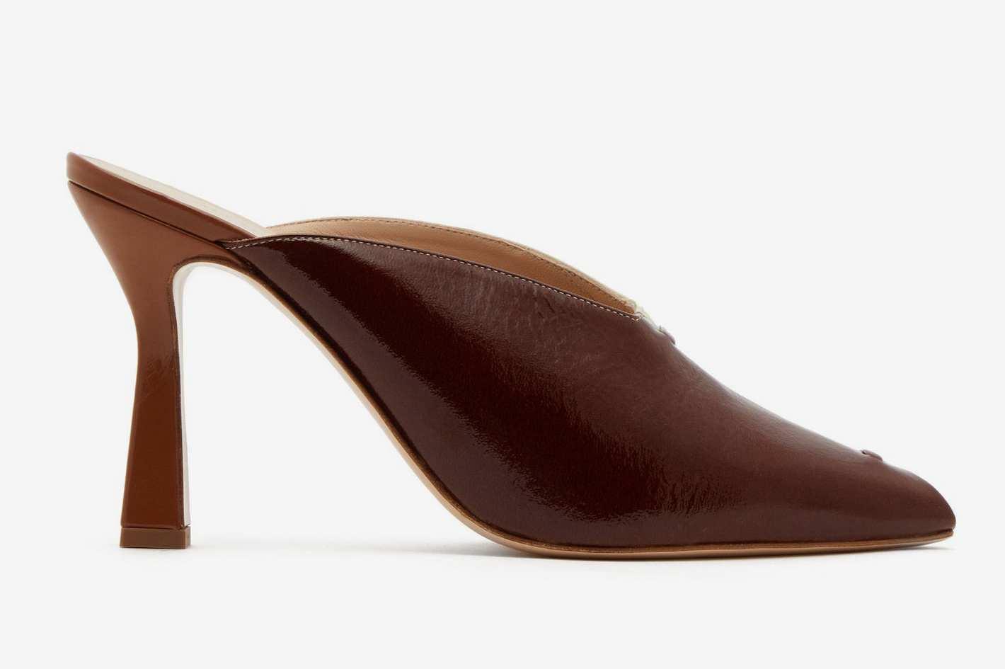 Wandler Niva Bi-Color Leather Mules