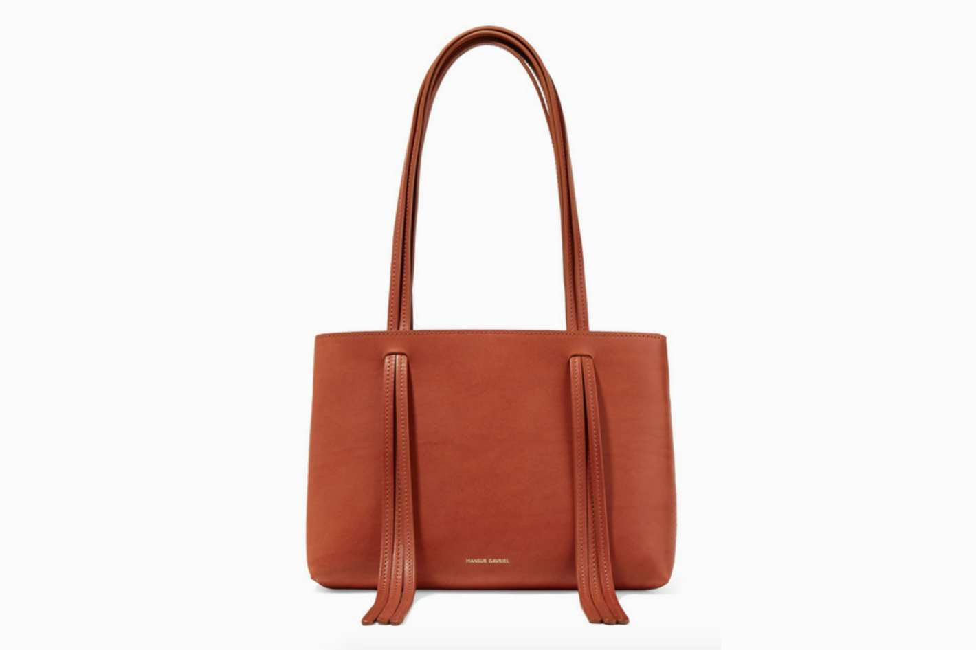 Mansur Gavriel East West Fringed Leather Tote