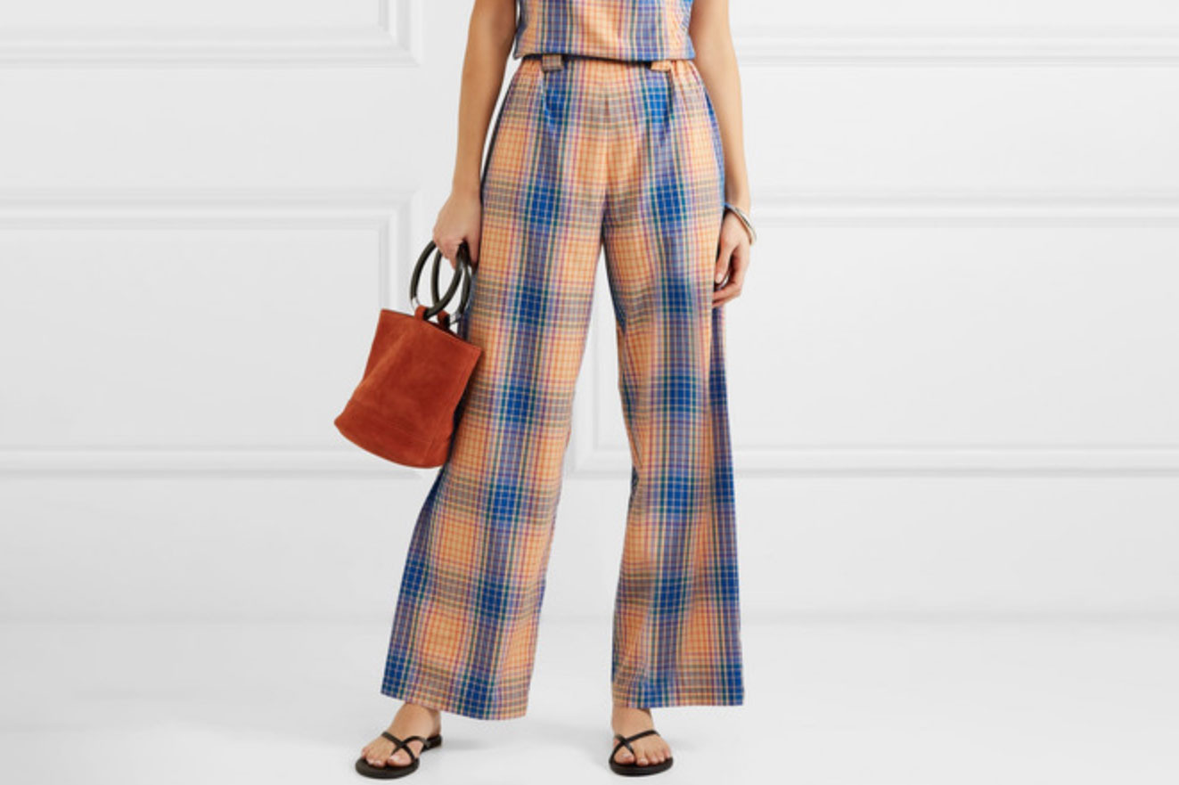 Simon Miller Checked Wide Leg Pants