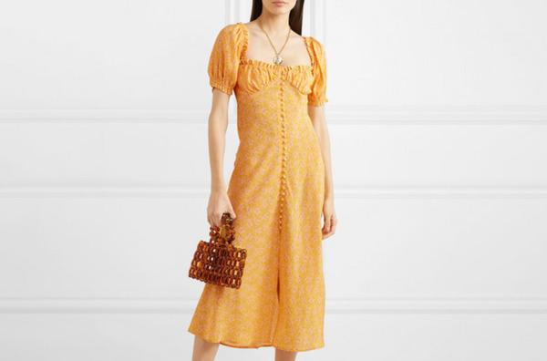 Rixo Tammy Ruffled Floral Dress