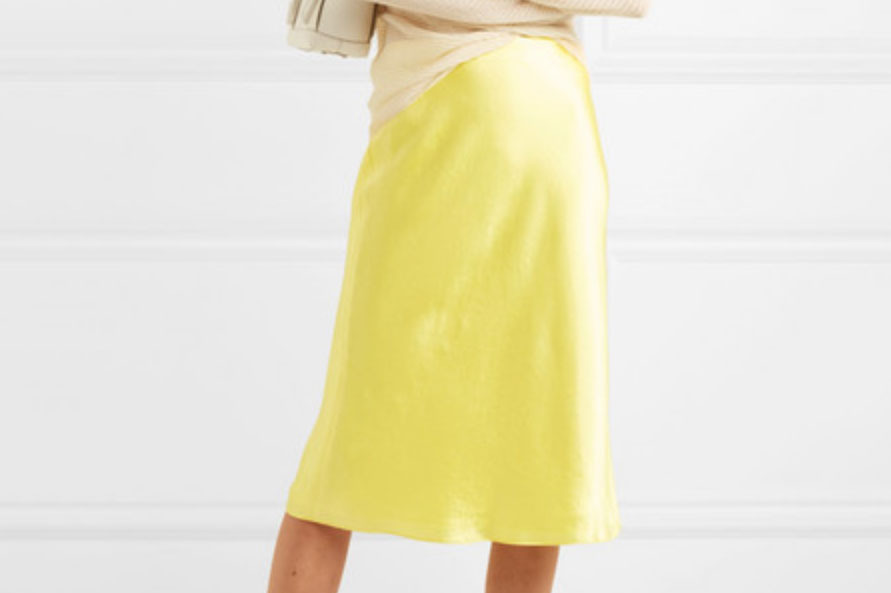 Vince Hammered Silk Skirt