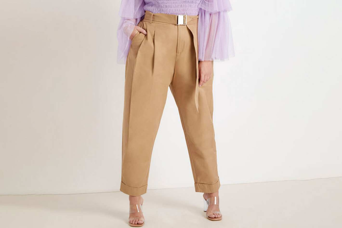 Priscilla Ono x ELOQUII Belted Banana Pant