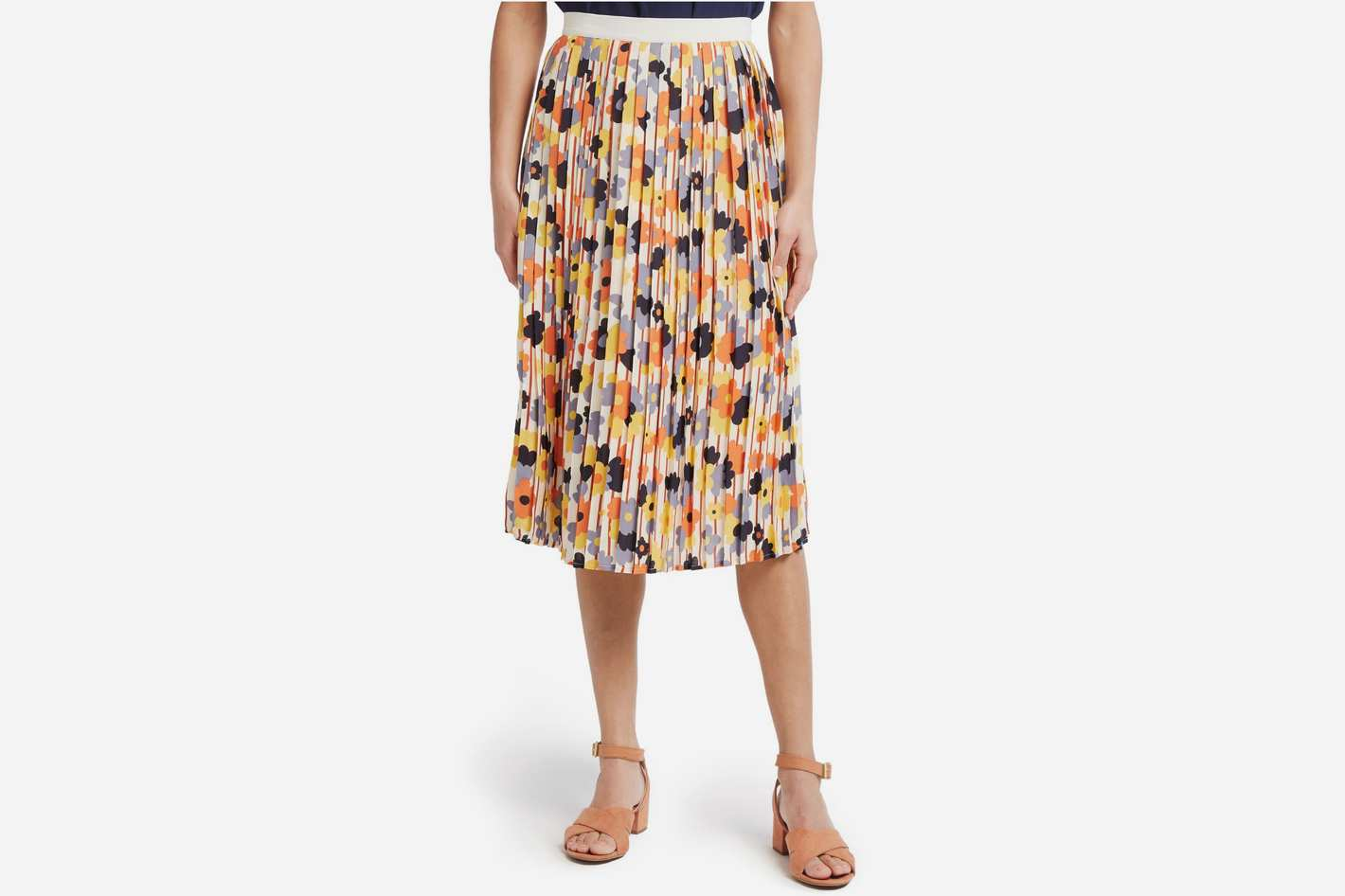 ModCloth Beautifully Upbeat Pleated Skirt