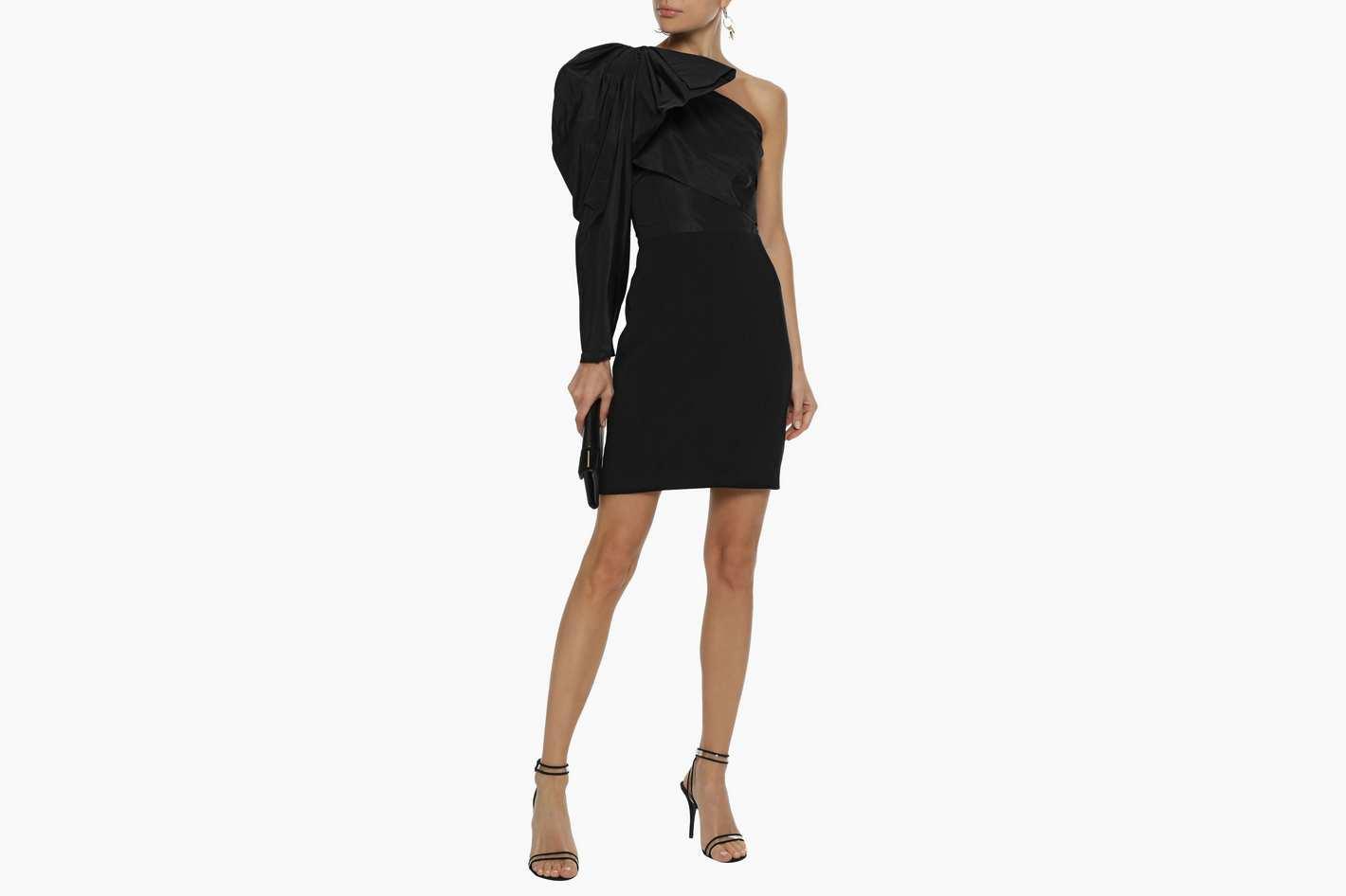 Stella McCartney One-shoulder Duchesse-satin Mini Dress